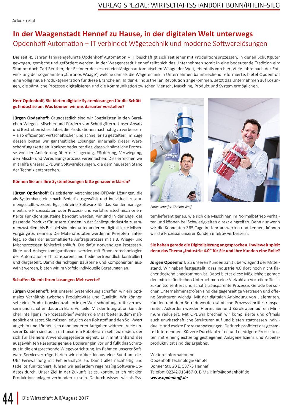 Die Wirtschaft Opdenhoff Hennef Automation & IT Jennifer Wolf Industriefotografie Fotografie Industrie 4.0 Fotografin Fotograf